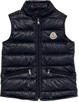 Moncler Gui Lightweight Puffer Vest, Navy, Sizes 8-10