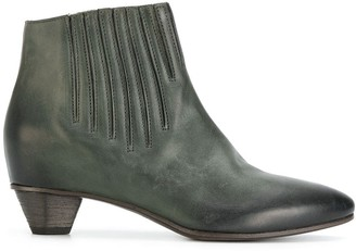 Del Carlo Stitch Detail Ankle Boots