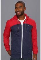 Nixon Brighton Jacket (Steel Blue/Red/White) - Apparel