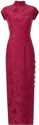 Shanghai Tang Chinoiserie jacquard long Qipao dress