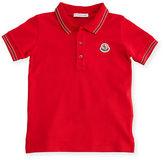 Moncler Short-Sleeve Cotton Jersey Polo Shirt, Size 2-3
