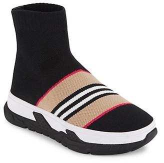 Burberry Little Kid's & Kid's Union Stripe Sock Sneakers
