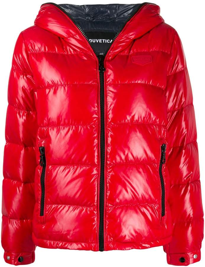 the latest be18a 58359 shiny hooded puffer jacket