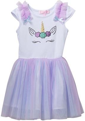 Popatu Unicorn Tulle Dress (Little Girls)