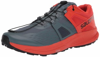 Salomon mens Ultra/Pro Climbing stormy weather/Cherry Tomato/Black 14 US medium