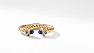 David Yurman Renaissance Bracelet With Lapis Lazuli And Hampton Blue