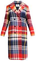 Mads Norgaard PLAY CHECK CRUSH Classic coat navy/red