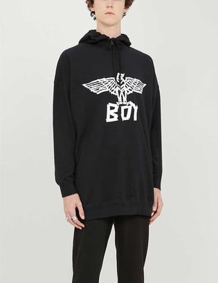 Boy London Logo-print cotton-jersey hoody