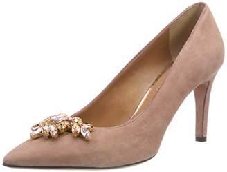 Oxitaly Women's SEVILL 0417 Closed Toe Heels, Pink (Tuscany Tuscany)