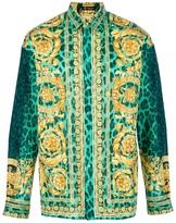 Versace baroque print boxy shirt