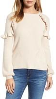 Velvet by Graham & Spencer Women's Cashmere Ruffle Shoulder Sweater