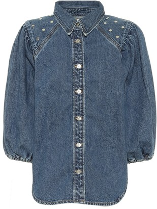 Ganni Embellished denim shirt