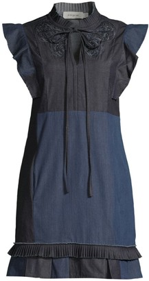 Coach 1941 Denim Pachwork Shift Dress