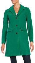 1 Madison Wool-Blend Button-Front Coat