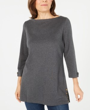 Karen Scott Cotton Button-Hem Tunic, Created for Macy's