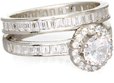 Bliss Cubic Zirconia & Sterling Silver Halo Engagement Ring Set
