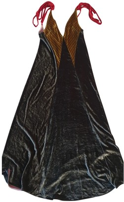 ATTICO Anthracite Velvet Dresses