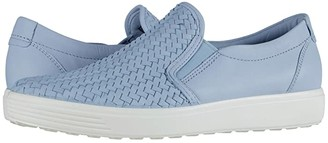 Ecco Soft 7 Woven Slip-On II (Dusty Blue Cow Leather) Women's Shoes