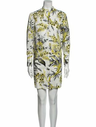 Diane von Furstenberg Printed Mini Dress w/ Tags White