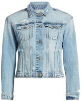 Joe's Jeans Cropped Distressed Denim Jacket