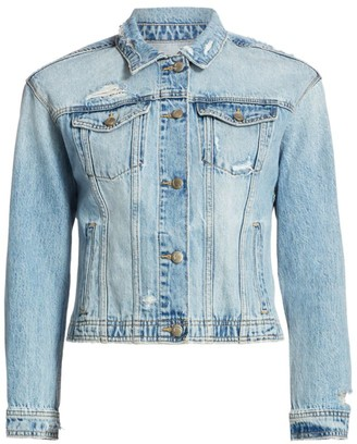 Joe's Jeans Cropped Distressed Denim Jacket