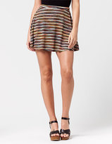 Lily White Ribbed Womens Skater Skirt