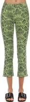 J Brand Selena Mid Rise Snake Print Denim Jeans