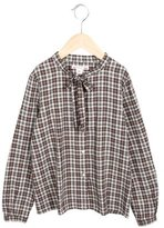 Bonpoint Girls' Plaid Flannel Top