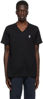 Burberry Black Marlet V-Neck T-Shirt