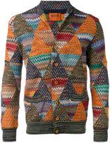 Missoni patterned cardigan - men - Cotton/Nylon/Rayon/Wool - 50