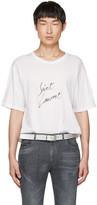 Saint Laurent White Signature Logo T-shirt
