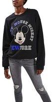 Topshop Women's Mickey Mouse Graphic Sweatshirt