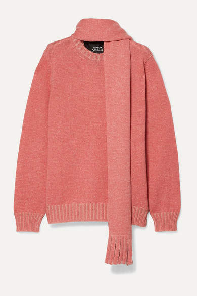 Marc Jacobs Mohair, Wool, Silk, Cashmere And Alpaca-blend Sweater - Pink