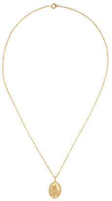 Theodora Warre St Christopher gold-plated necklace