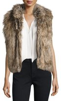 Joie Pruce Reversible Faux-Fur Vest, Natural/Mushroom