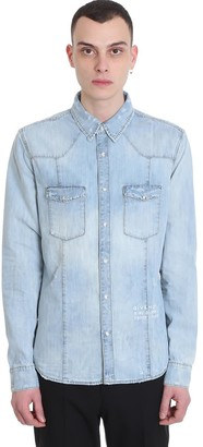 Givenchy Shirt In Cyan Denim