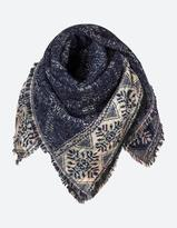 Fat Face Brushed Snowflake Woven Scarf