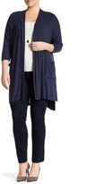 Bobeau Pocket Front Cardigan (Plus Size)
