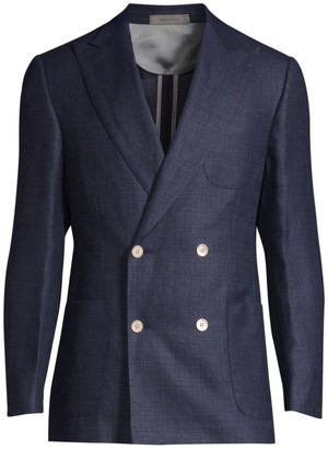 Corneliani Wool Peak Lapel Double-Breasted Jacket