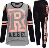 A2Z 4 Kids® Girls Top Kids Rebel Print Trendy T Shirt Tops & Fashion Legging Set 7-13 Years