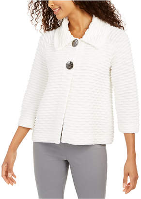 JM Collection Holiday Party Textured Sweater Jacket