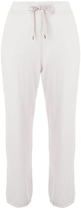 James Perse Drawstring-Waist Cropped Track Trousers