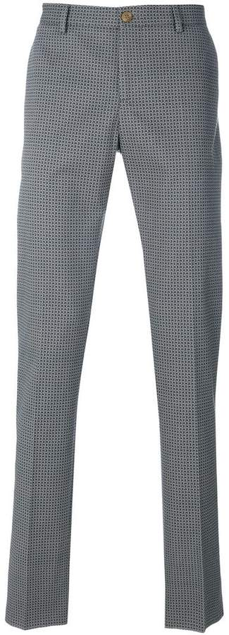 Etro all-over printed trousers