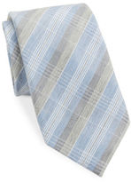 Vince Camuto Plaid Silk-Blend Tie