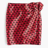 J.Crew Petite wrap skirt in jacquard hearts