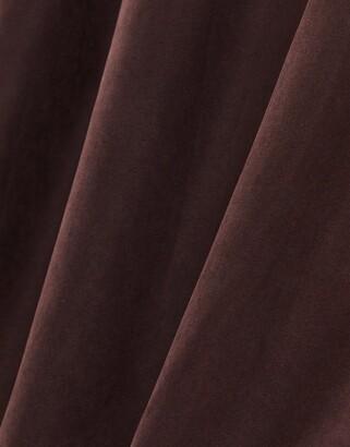 Brave Soul vanity belted maxi coat in chocolate brown