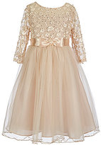 Bonnie Jean Big Girls 7-16 Sequined Daisy Bodice Tulle Dress
