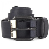 Diesel Black Branded Leather Belt