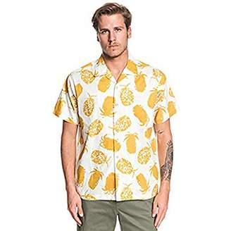 Quiksilver Waterman Men's Pineapple Web Short Sleeve Woven TOP