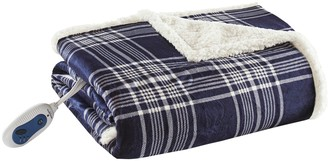 Woolrich Oversized Faux Fur & Berber Heated Throw